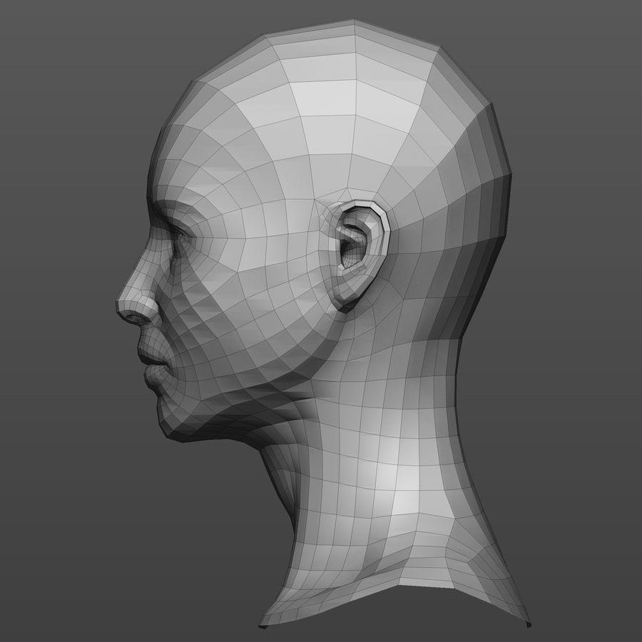 Basmaskar han / kvinnlig huvud royalty-free 3d model - Preview no. 7