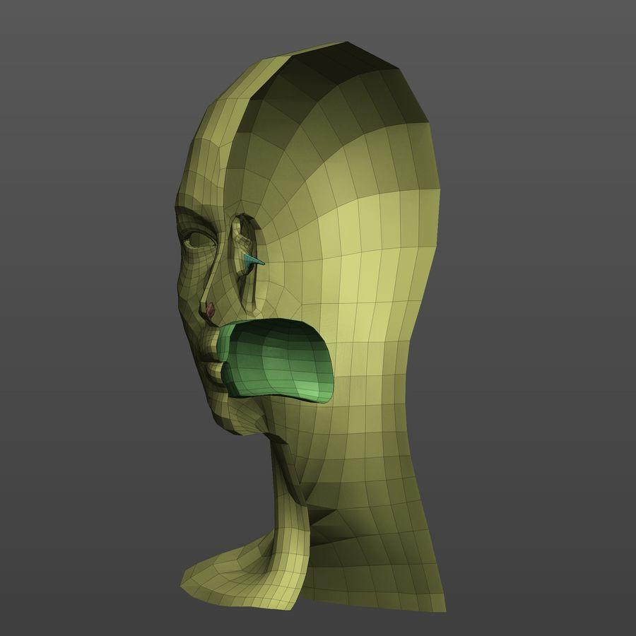Basmaskar han / kvinnlig huvud royalty-free 3d model - Preview no. 11
