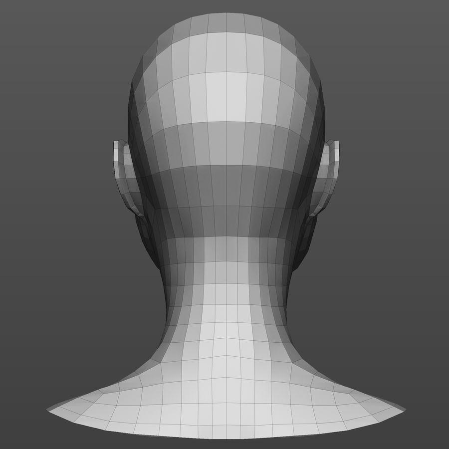 Basmaskar han / kvinnlig huvud royalty-free 3d model - Preview no. 9