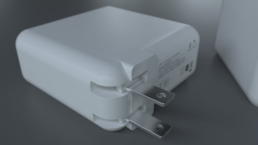 USB 3 Charger royalty-free 3d model - Preview no. 2