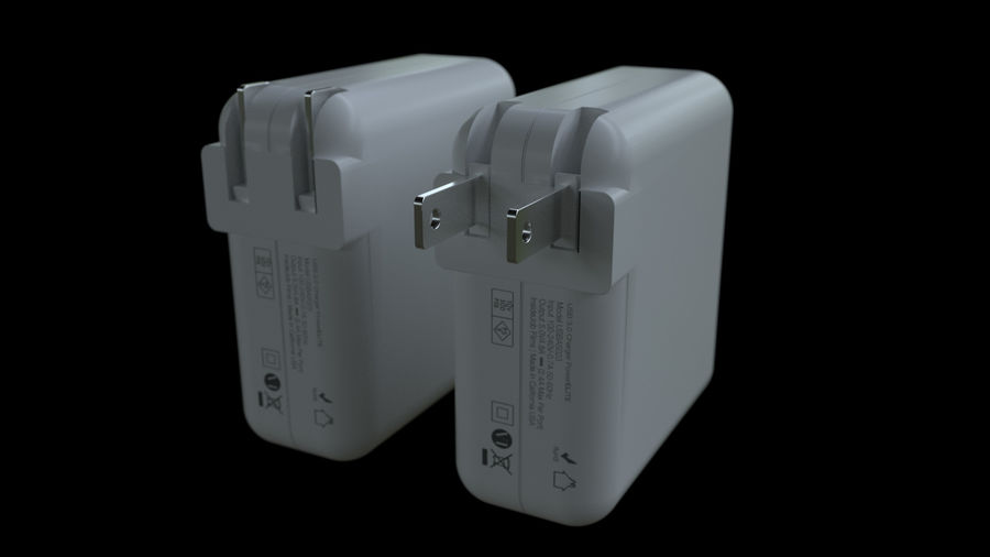 USB 3 Charger royalty-free 3d model - Preview no. 4