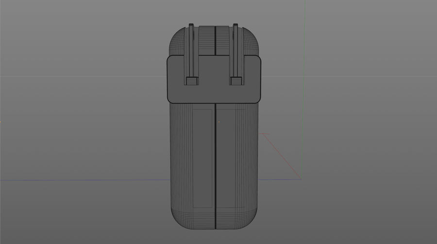 USB 3 Charger royalty-free 3d model - Preview no. 7