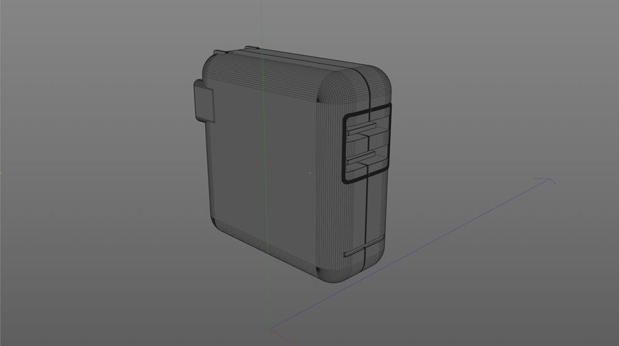 USB 3 Charger royalty-free 3d model - Preview no. 6