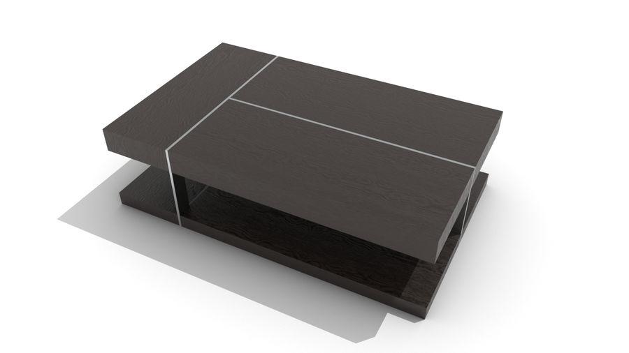 2 단 목재 및 금속 커피 용 탁자 royalty-free 3d model - Preview no. 3