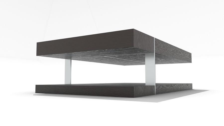 2 단 목재 및 금속 커피 용 탁자 royalty-free 3d model - Preview no. 4