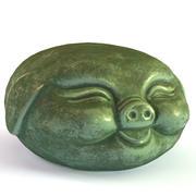 猪茶公仔 3d model