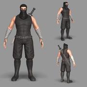 Wojownik ninja 3d model