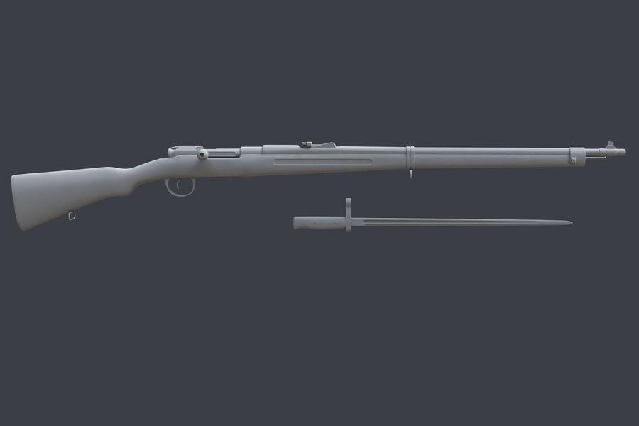Mannlicher Schoenauer M1903 royalty-free 3d model - Preview no. 3