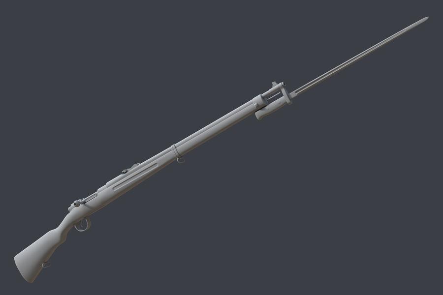 Mannlicher Schoenauer M1903 royalty-free 3d model - Preview no. 12