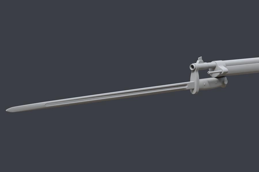 Mannlicher Schoenauer M1903 royalty-free 3d model - Preview no. 11