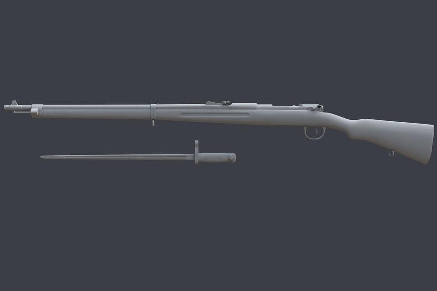 Mannlicher Schoenauer M1903 royalty-free 3d model - Preview no. 2