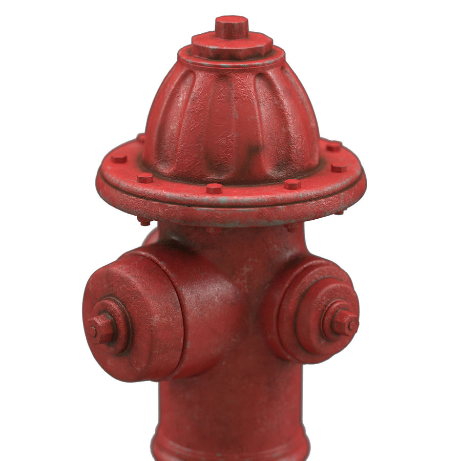 Пожарный кран royalty-free 3d model - Preview no. 1