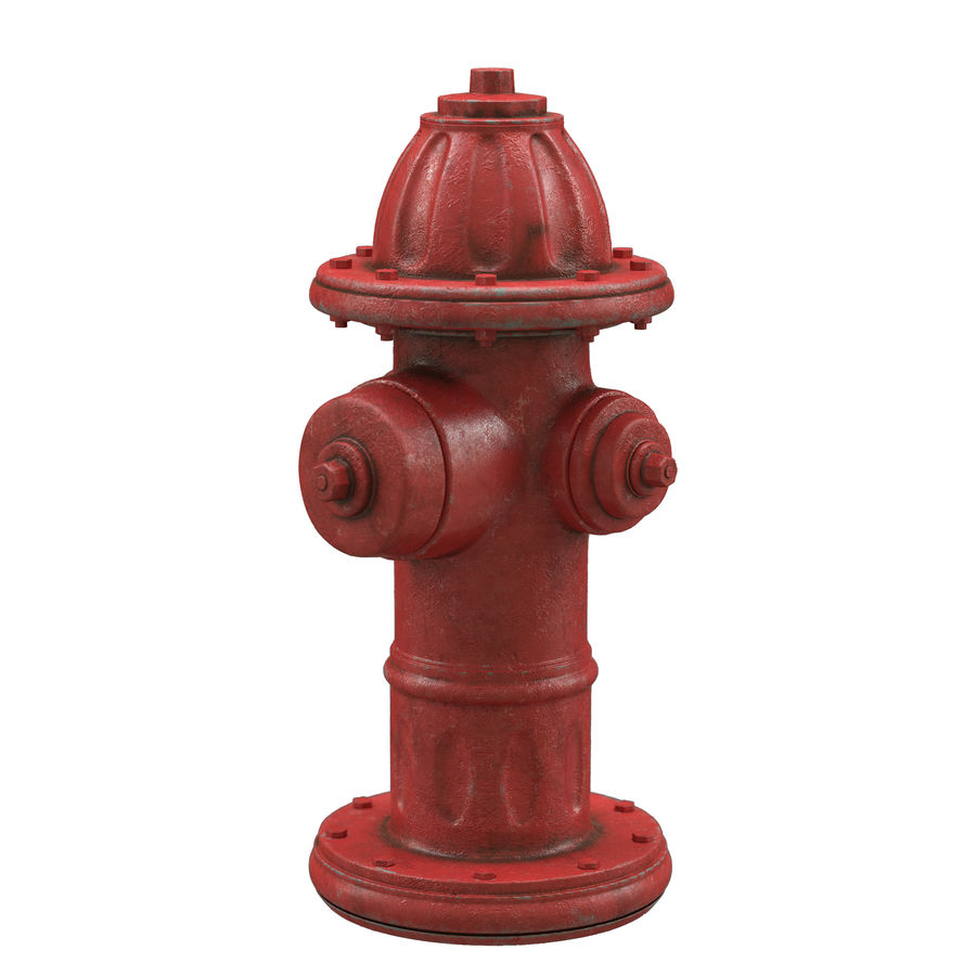 Пожарный кран royalty-free 3d model - Preview no. 2