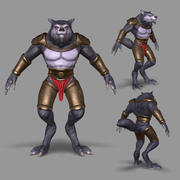 Werwolf-Mutant 3d model