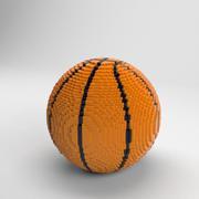 ボクセルバスケットボール 3d model