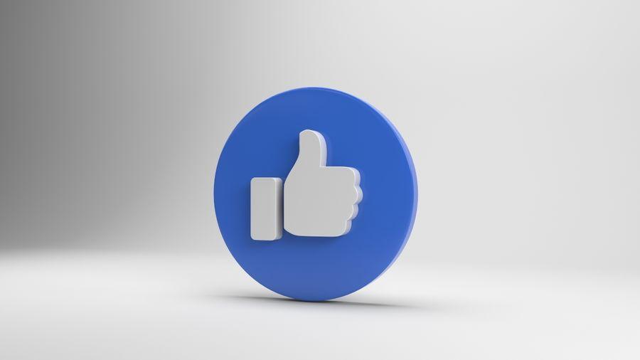 絵文字のようなFacebook royalty-free 3d model - Preview no. 2