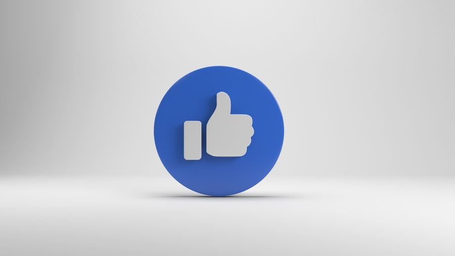 絵文字のようなFacebook royalty-free 3d model - Preview no. 4