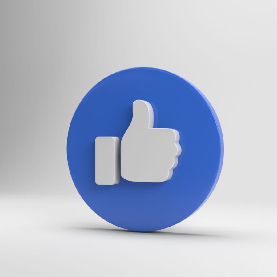 絵文字のようなFacebook royalty-free 3d model - Preview no. 1