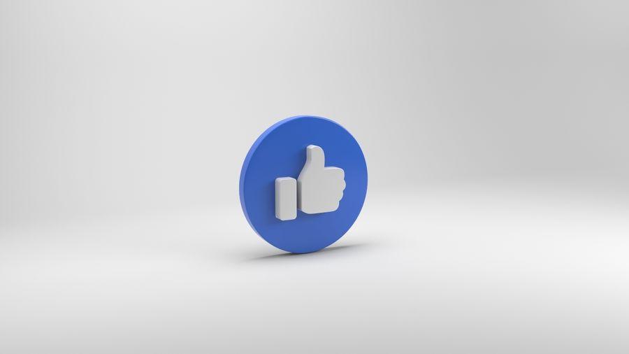 絵文字のようなFacebook royalty-free 3d model - Preview no. 3