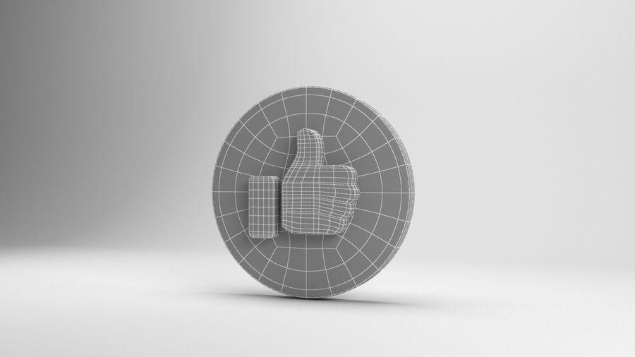 絵文字のようなFacebook royalty-free 3d model - Preview no. 6