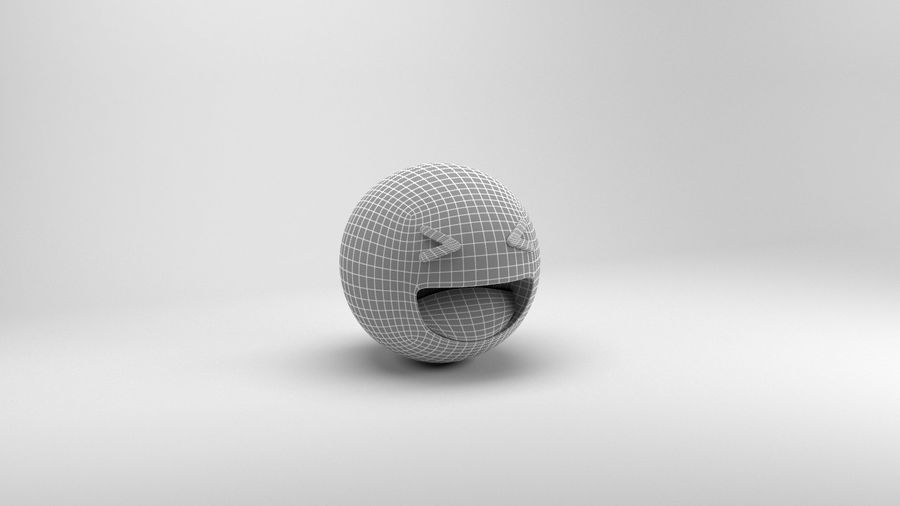 Facebookはは絵文字 royalty-free 3d model - Preview no. 7