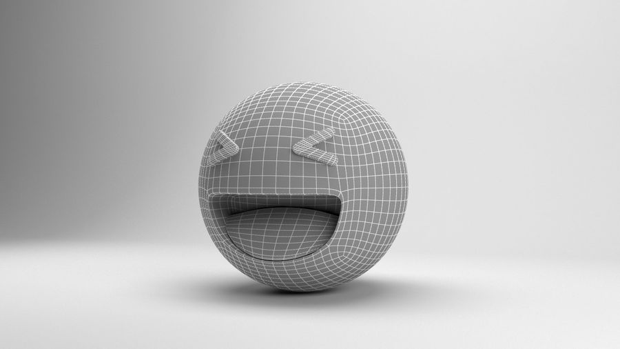 Facebookはは絵文字 royalty-free 3d model - Preview no. 8