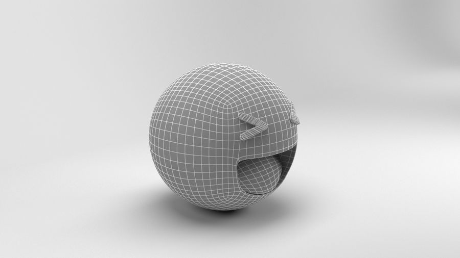 Facebookはは絵文字 royalty-free 3d model - Preview no. 9