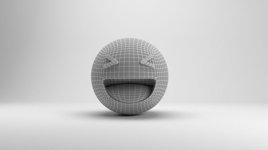 Facebookはは絵文字 royalty-free 3d model - Preview no. 6