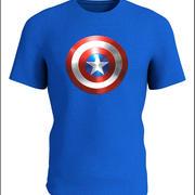 美国队长T恤 3d model