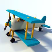 Деревянная игрушка Самолет 3d model