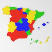 Kaart van Spanje 3d model