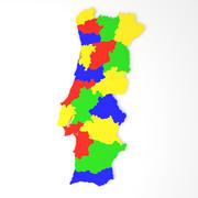 葡萄牙地图 3d model