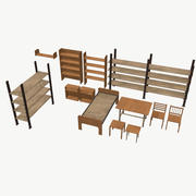 ローポリ家具 3d model
