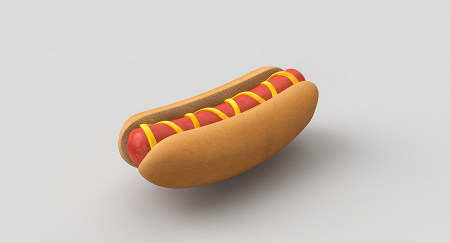 Hot Dog Sandwich 03 3D-model royalty-free 3d model - Preview no. 5