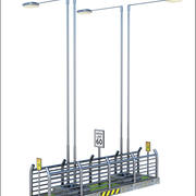 Clôture de route 3d model
