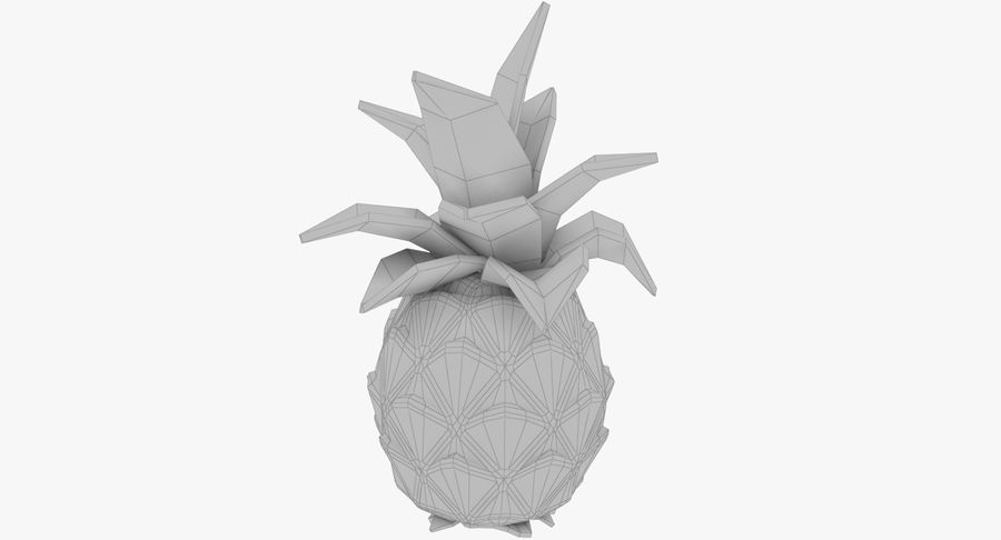 Cartoon Pineapple royalty-free 3d model - Preview no. 8