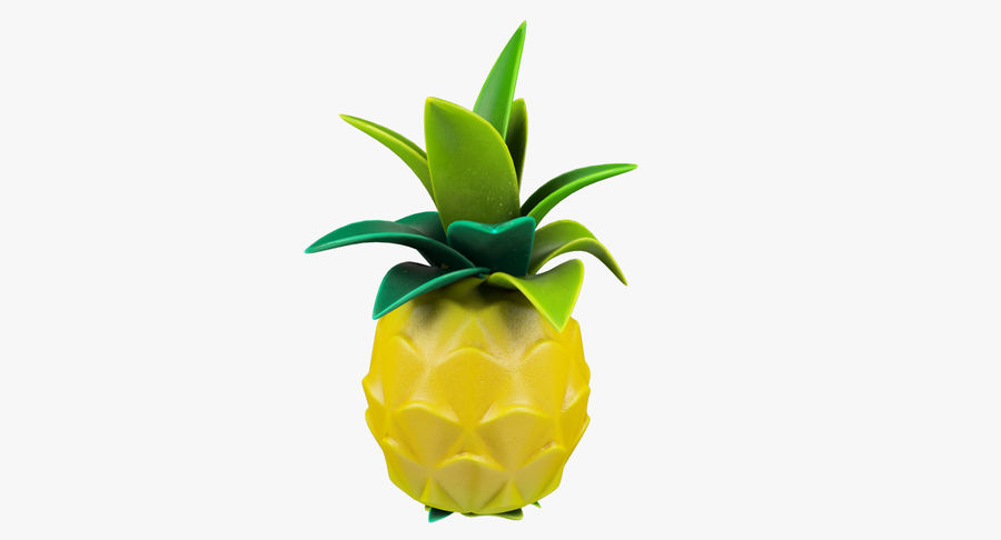 Cartoon Pineapple royalty-free 3d model - Preview no. 4