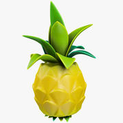 Cartoon Pineapple 3d model