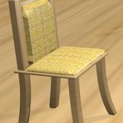 木椅皮革 3d model