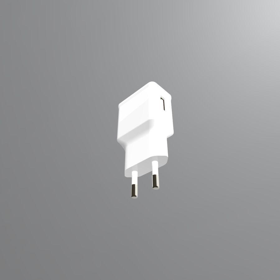 Caricatore del telefono 3D royalty-free 3d model - Preview no. 8