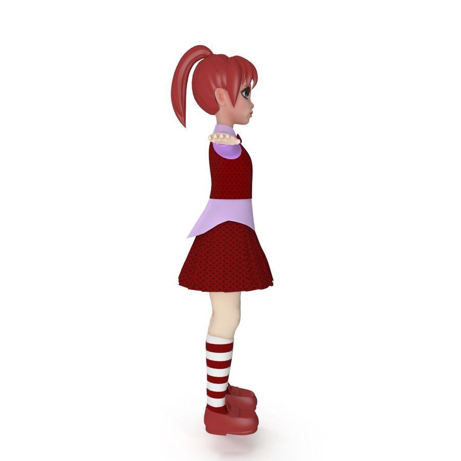 漫画の女の子の女性 royalty-free 3d model - Preview no. 6