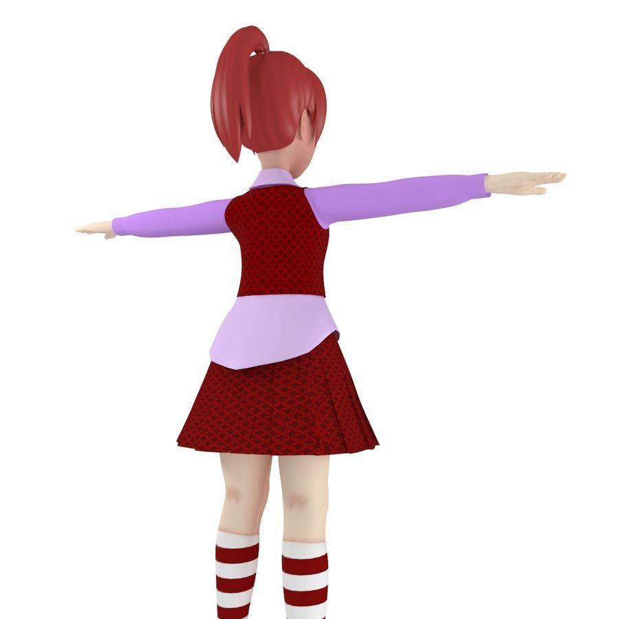 漫画の女の子の女性 royalty-free 3d model - Preview no. 2