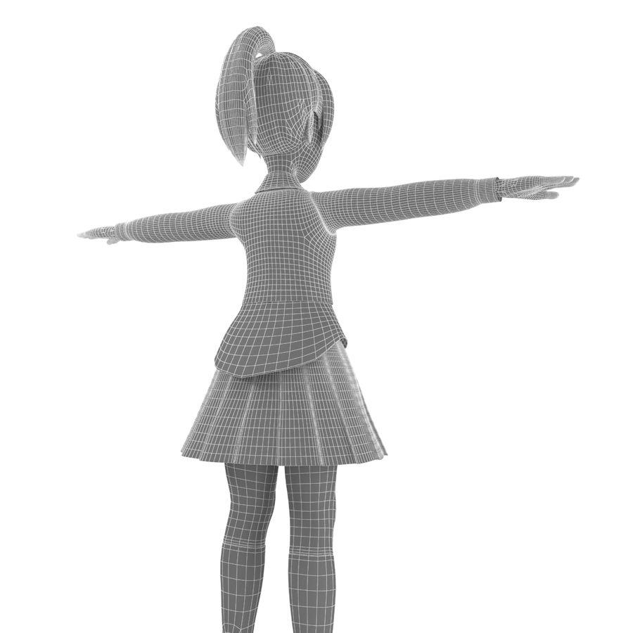 漫画の女の子の女性 royalty-free 3d model - Preview no. 13