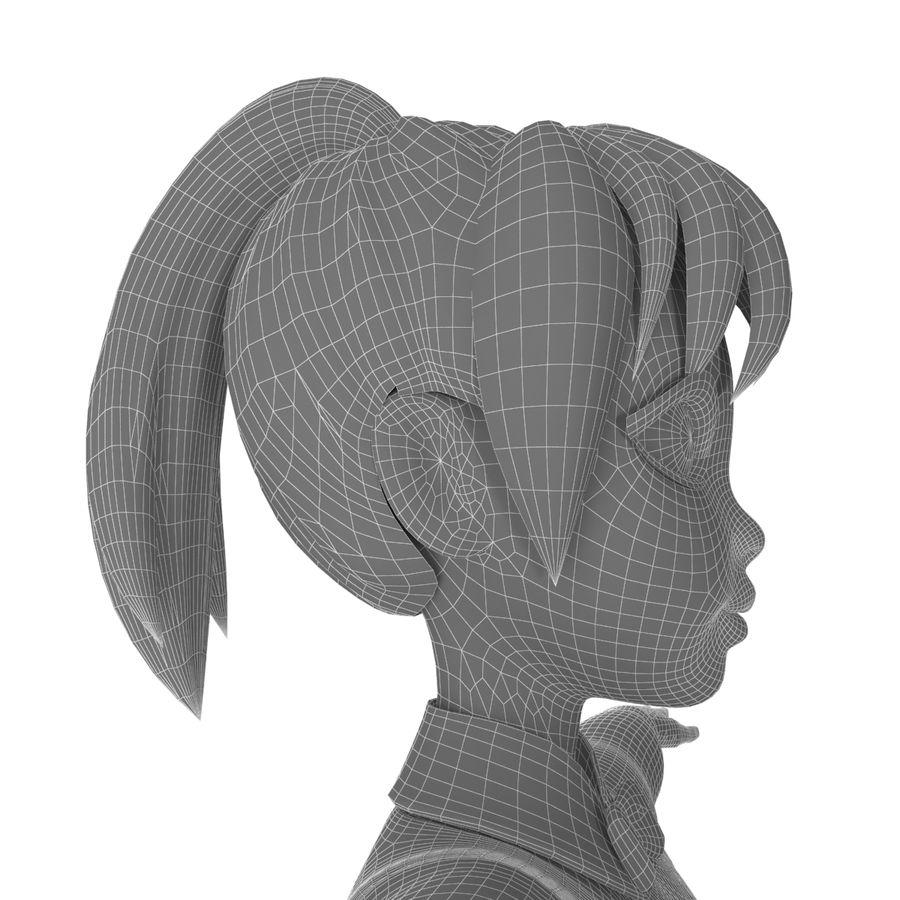 漫画の女の子の女性 royalty-free 3d model - Preview no. 12