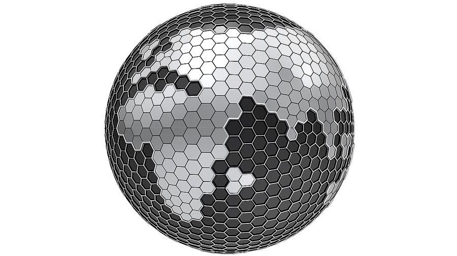 Шестиугольник планеты Земля royalty-free 3d model - Preview no. 1