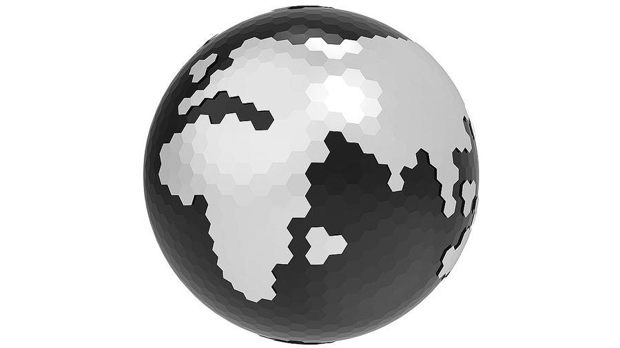 Шестиугольник планеты Земля royalty-free 3d model - Preview no. 4