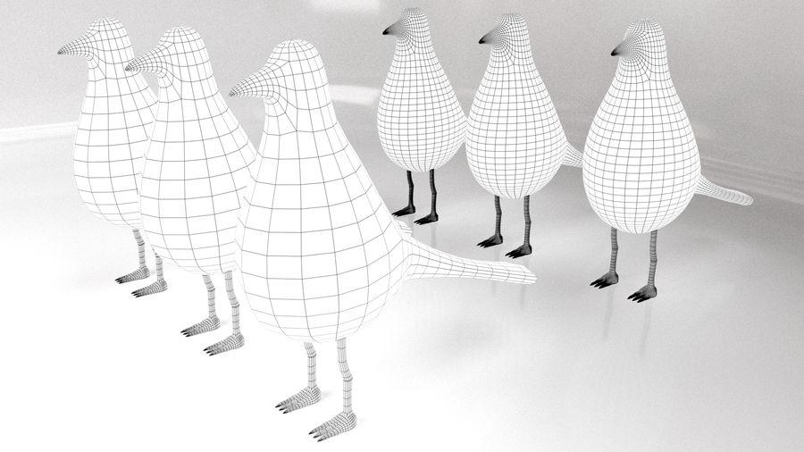 Bird Trinket Set royalty-free 3d model - Preview no. 2