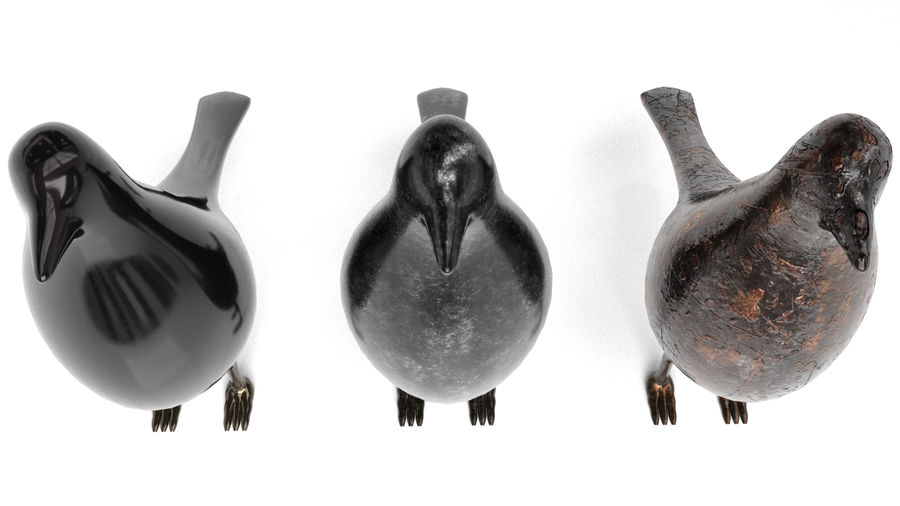 Bird Trinket Set royalty-free 3d model - Preview no. 10