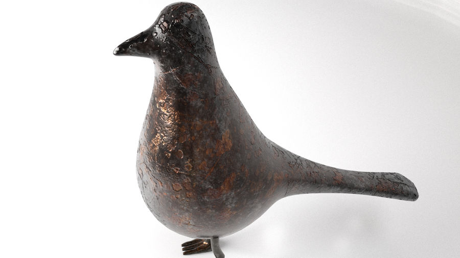 Bird Trinket Set royalty-free 3d model - Preview no. 23