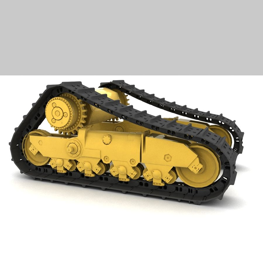 Rigged tracks royalty-free 3d model - Preview no. 2